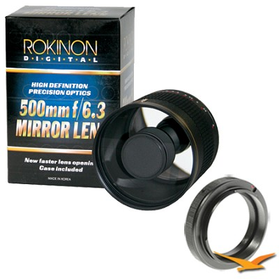 ED500M - 500mm f/6.3 Multi-Coated ED Mirror Lens for Sony Alpha / Minolta.