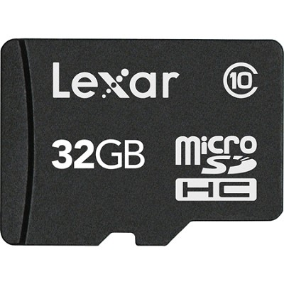 32GB microSDHC Mobile With adapter Class 10