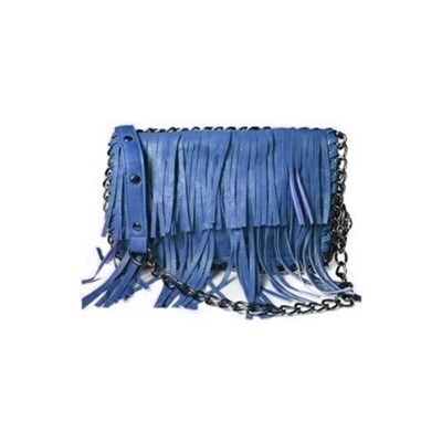 Fringe Chained Crossbody (Navy) - 3052NVY