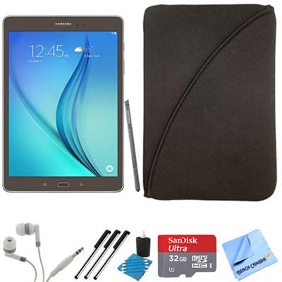 Galaxy Tab A 9.7-Inch W-Fi Tablet (Titanium with S-Pen) 32GB Memory Card Bundle