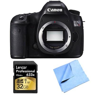 EOS 5DS R 50.6MP Digital SLR Camera (Body Only) Lexar Memory Bundle