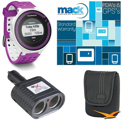 Forerunner 220 White/Violet Deluxe Bundle with Heart Rate Monitor