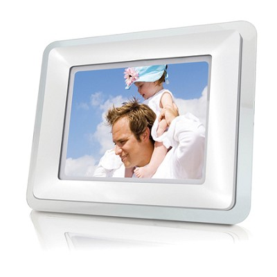8.4` (4:3) Digital Photo Frame with 128M Flash Memory (Acrylic Frames - White)