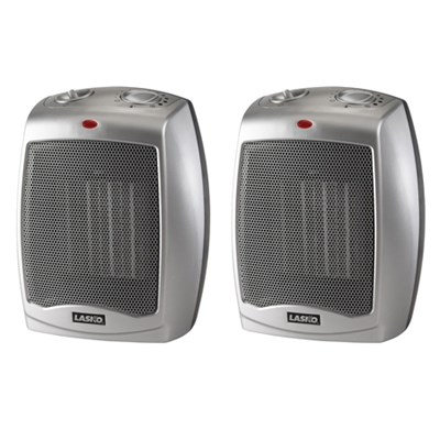 Ceramic heater 2-Pack with Adjustable Thermostat 754200