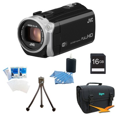 GZ-EX515BUS- HD Everio Camcorder 38x Zoom f1.8 (Black) with 16GB Bundle