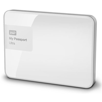 My Passport Ultra 4 TB Portable External Hard Drive, White