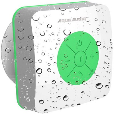 AQUACUBE Water Resistant Shower Speaker with Suction Cup (Green) UG-AQUACUBE-GRN