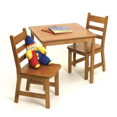 Child's Table Chair Set Pecan