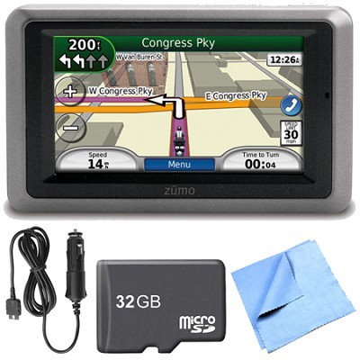 zumo 660 Motorcycle GPS With Lifetime Map Updates Power Cable Bundle