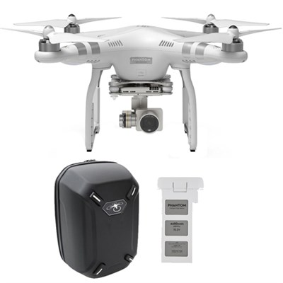 Phantom 3 Advanced Quadcopter 2.7K Camera Bundle W/ Extra Battery And Backpack
