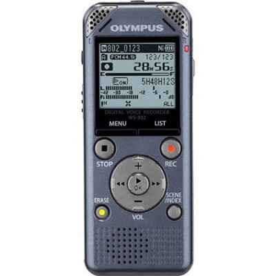 Olympus WS-802 Voice Recorder Metallic Grey, Factory Refurbished