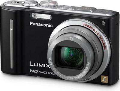 LUMIX 12.1 MP Digital Camera with 16x Intelligent Zoom (Black) - REFURBISHED