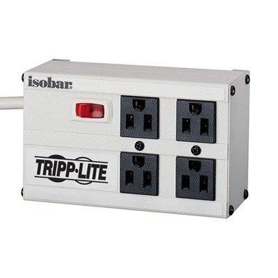 4-Outlet 220V Surge Protector Power Strip - ISOBAR4/220
