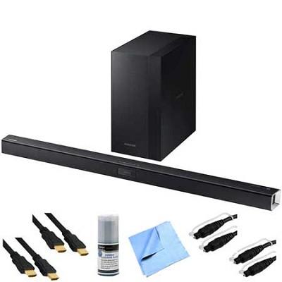 HW-J450 - 300w 2.1ch Bluetooth Soundbar & Wireless Subwoofer Plus Hook-Up Bundle