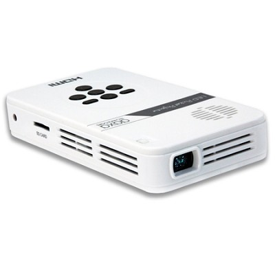 LED Pico Pocket Projector w/ 80 Minute Battery Life, 15,000 hour LED Life