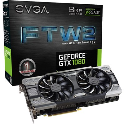 GeForce GTX1080 FTW2 8GB GDDR5 Graphics Card 08G-P4-6686-KR