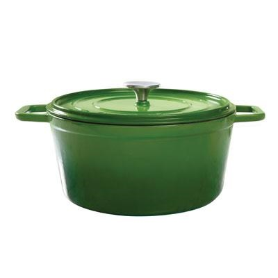 5Qt Round Cast Dutch Oven Grn