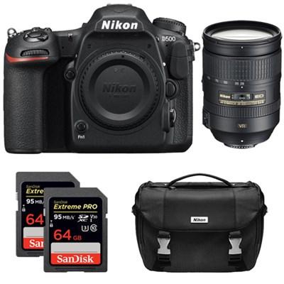 D500 20.9 MP CMOS DX Digital SLR Camera 28-300mm f/3.5-5.6G ED VR AF-S Lens Kit