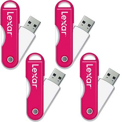 JumpDrive TwistTurn 16 GB High Speed USB Flash Drive Pink 4-Pack (64GB Total)