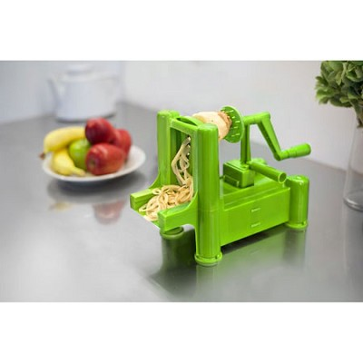 Slice-A-Roo Ultimate Tri-Blade Vegetable and Fruit Peeler Spiralizer - Green