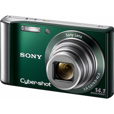 Cyber-shot DSC-W370 14MP Green Digital Camera w/ 720p HD Video - REFURBISHED