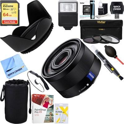 Sonnar T* FE 35mm F2.8 ZA Full Frame Camera E-Mount Lens + 64GB Ultimate Kit