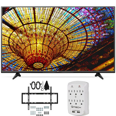 55UF6450 - 55-Inch 4K Ultra HD Smart LED 120Hz TV Slim Flat Wall Mount Bundle