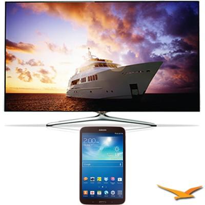 UN60F7500 - 60` 1080p 240hz 3D Smart Wifi LED HDTV - 8-Inch Galaxy Tab 3 Bundle