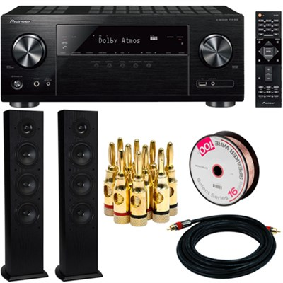 5.1-Ch Network AV Receiver UHD Pass-through w/HDCP 2.2 with Loudspeaker Bundle