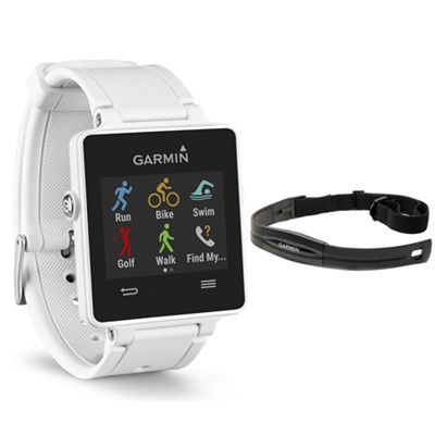 Vivoactive GPS Smartwatch White 010-01297-01 with Heart Rate Monitor