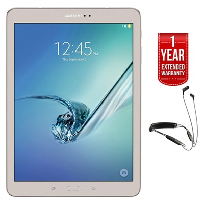 Galaxy Tab S2 9.7` 32GB Tablet (Gold) + R6 Earbuds + Extended Warranty