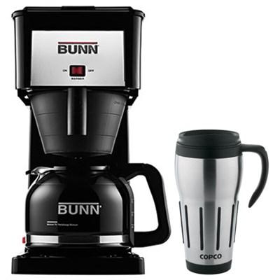 10-Cup Original Home Coffee Brewer w/ 24oz. Big Joe Thermal Mug (Black)