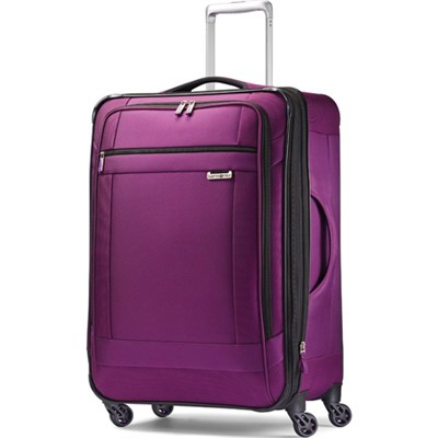 SoLyte 25` Expandable Spinner Upright Suitcase Luggage - Purple Magic