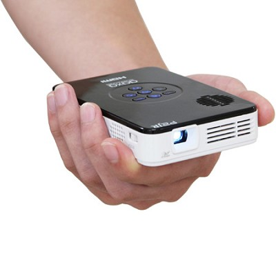 KP-100-02 P2 Jr Pocket Pico Projector w/ 90 Minute Battery Life, 20,000 Hour LED