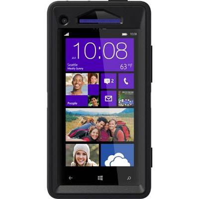 Defender Series Case for HTC Windows Phone 8X - Retail Packaging - Black