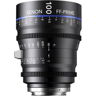 100MM Xenon Full Frame 4K Prime XN 2.1 / 100 Feet Lens for Sony E Mounts