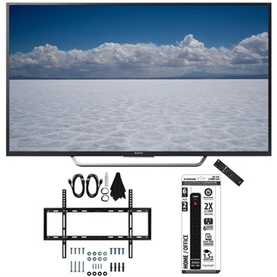 XBR-49X700D - 49` Class 4K Ultra HD TV with Slim Wall Mount Bundle