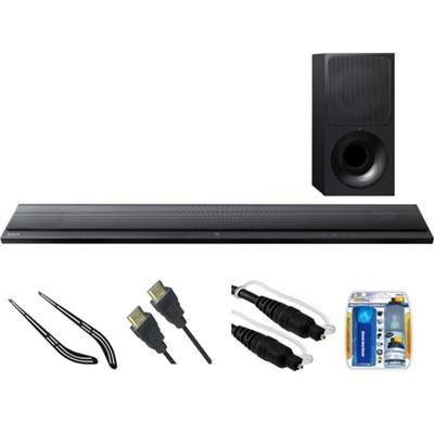 Ultra-Slim 2.1 Channel Sound Bar with Bluetooth HT-CT390 w/ Bracket Kit