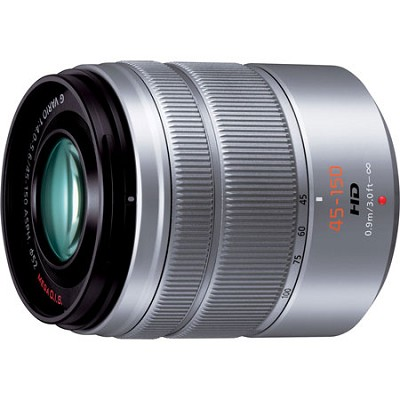 LUMIX G VARIO 45-150 mm H-FS45150 Silver Lens For G Series Cameras