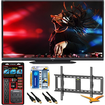 LC-80LE650U Aquos 80` 1080p WiFi 120Hz 1080p LED TV Plus Wall Mount Bundle