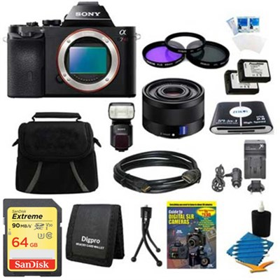 Alpha 7R a7R Digital Camera, 35mm Full Frame Lens, HVL-F60M Flash Bundle