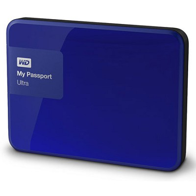 My Passport Ultra 2 TB Portable External Hard Drive, Blue (WDBBKD0020BBL-NESN)