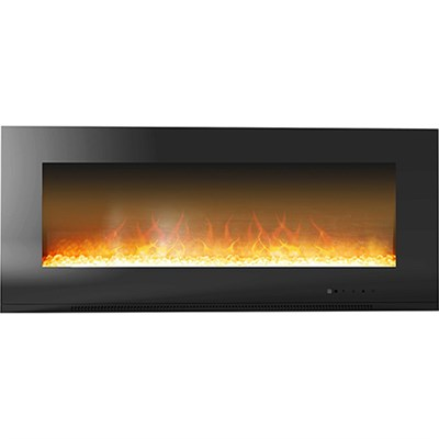 56  Metropolitan Wall Mount Electronic Fireplace with Crystal Rocks