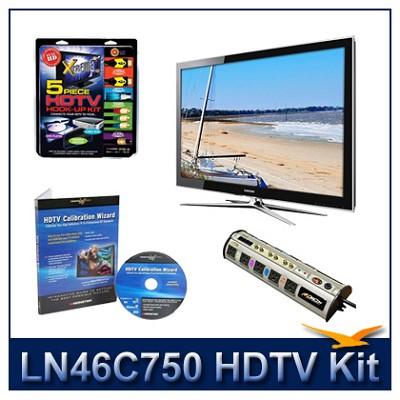 LN46C750 3D HDTV + High-performance Hook-up Kit + Power Protection + Calibration