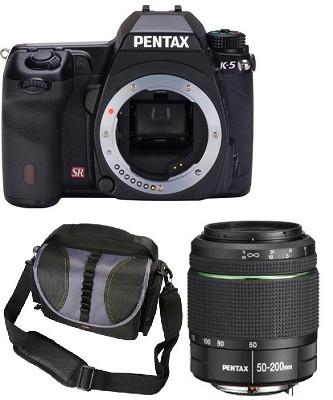 K-5 Weatherproof Digital SLR Digital Camera Body + 50-200mm WR Lens Bundle Deal