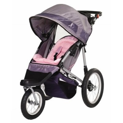 Hope Swivel Jogging Stroller (Pink/Grey)