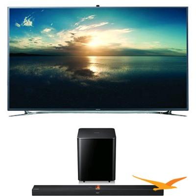 UN65F9000 - 65-Inch 4K Ultra HD 120Hz 3D Smart LED TV + HW-F750 Bundle