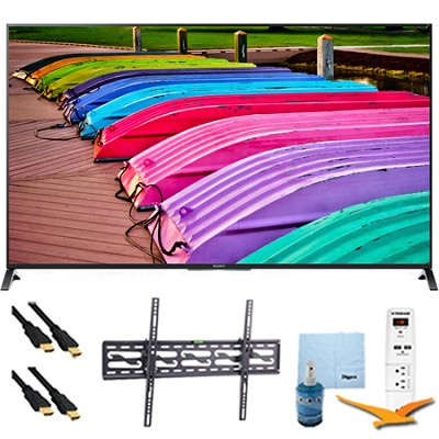 XBR49X850B - 49-Inch 4K Ultra HD 120Hz 3D LED TV Tilt Mount & Hook-Up Bundle