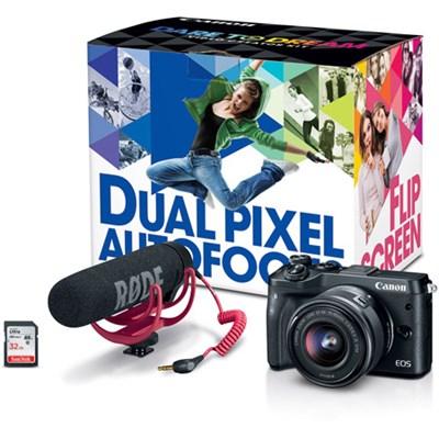 M6 EOS 24.2MP Mirrorless Digital Camera Video Creator Kit (Black)