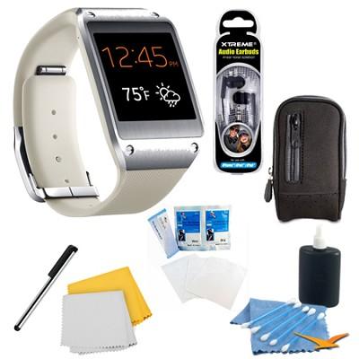 Oatmeal Beige Galaxy Gear Smartwatch Accessory Bundle